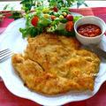 ボーソー米油部♪ボリューム満点!鶏むね肉のミラノ風チキンカツレツ