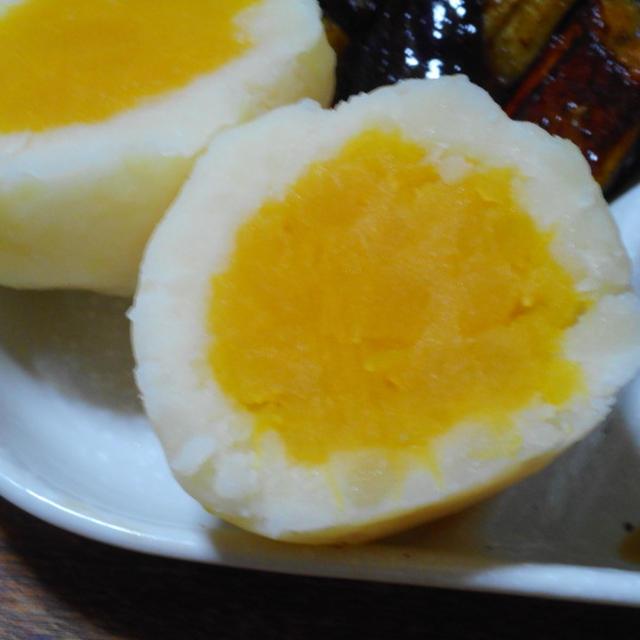 ポテトとかぼちゃのゆで卵風