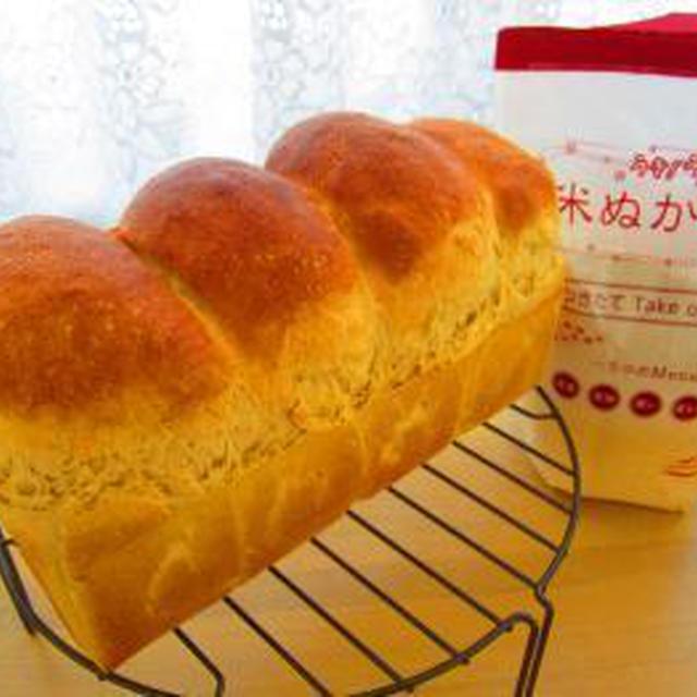 練乳ミルクの米ぬか食パン♪タマゴサンド(^^)♪