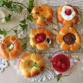 レシピ*簡単!菓子パン用お花パン*簡単に菓子パンが作れます!母の日父の日