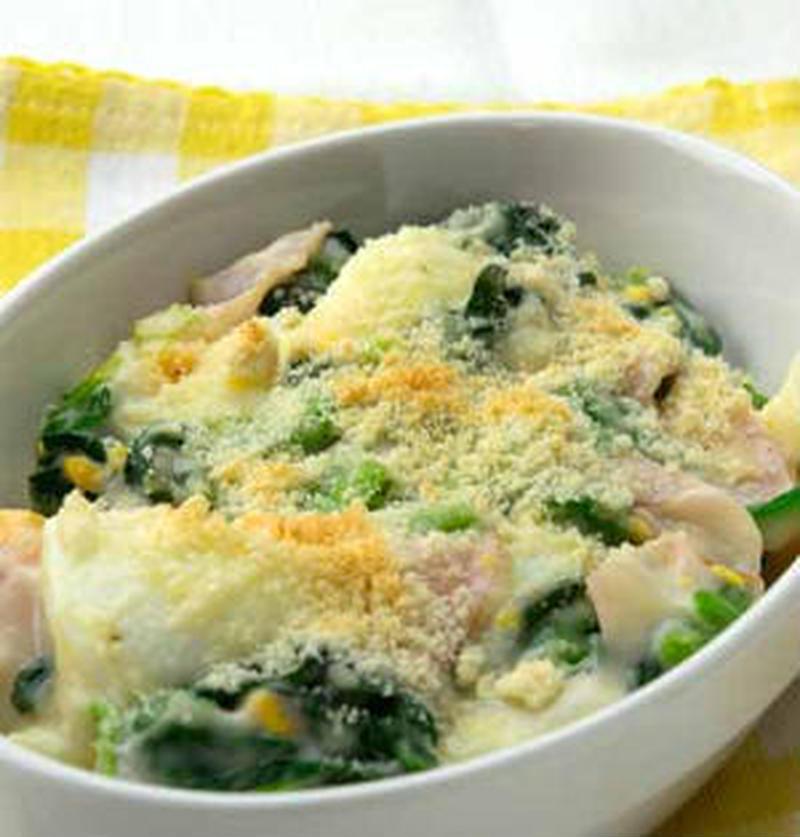熱々がおいしい!ほうれん草×卵のグラタンレシピ