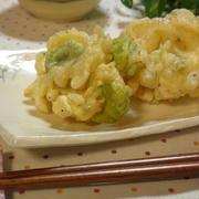 そら豆としらすの天ぷら☆