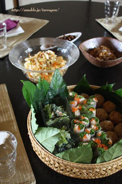お野菜たっぷりアジアンおうちランチ♪と夏野菜のイベント☆