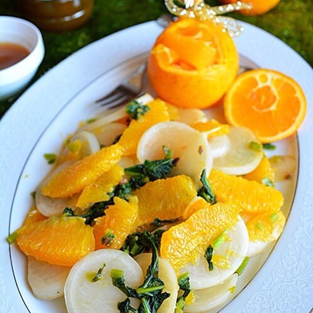 5分でビタミン補給 ネーブルとかぶの爽やかサラダ  ドレッシング炒めで簡単!