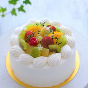 フルーツがない季節のデコレーションケーキ