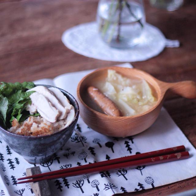+ ケイタイニッキ + 鶏の炊きこみごはん :)