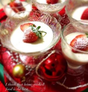 苺のチョコババロア/アーモンドのお菓子