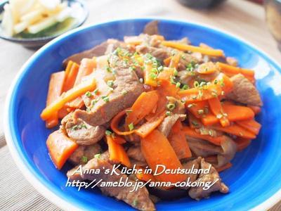 【主菜】時短!10分でできる!豚肉とにんじんのオイスター炒め