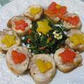 クリスマスに♪ 鶏肉ロール&サラダ