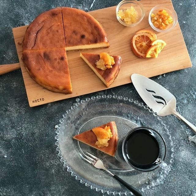 しっかりと焼き上げたチーズケーキ ジンジャーオレンジ風味