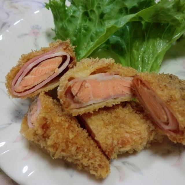 鮭のベーコン巻きフライ