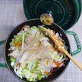 ストウブ16で鶏五目飯とホットプレートでなすの蒸し煮
