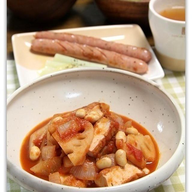 厚揚げと野菜のトマトシチュー♪ チーズ味噌田楽・くらしのアンテナ掲載