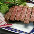 舞茸酵素が科学的に一番活躍できる温度でステーキを作る