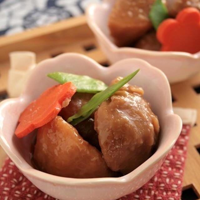 アメリカでもおせち料理、サトイモの煮しめの作り方