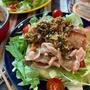 焼くだけ簡単♡カリカリ豚バラサラダ♡香味だれがけ【#簡単レシピ#時短#節約#スピードおかず】