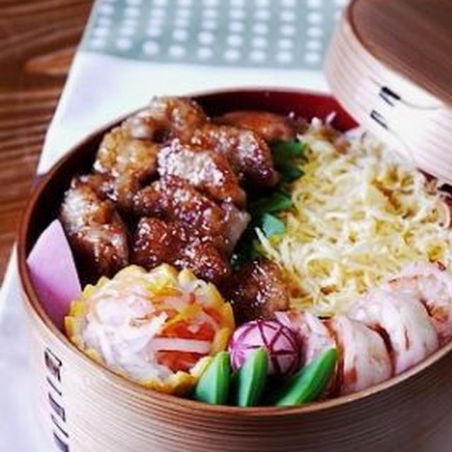 ◆鶏カルビの旨タレ丼と、ミニ白菜。
