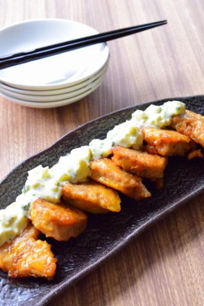 肉を食べてるみたい!?マグロのチキン南蛮風のレシピ