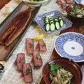 ◆ウナギのかば焼きとリメイクローストビーフでおうちごはん♪ by fellowさん