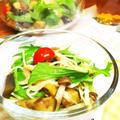 【夏!なレシピ♪】ナスときのこのサラダそうめん(*>ω<*) by ぽめいちごさん