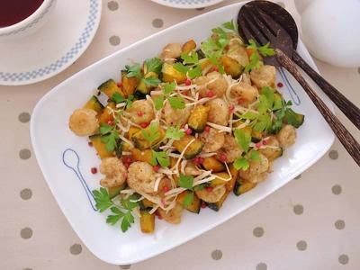 小エビとパンプキンのサラダ