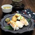 握り寿司&京都のいなり寿司の再現。