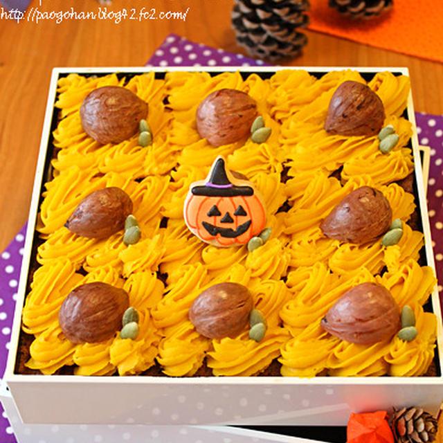 お重で!ハロウィンかぼちゃのモンブランティラミス☆