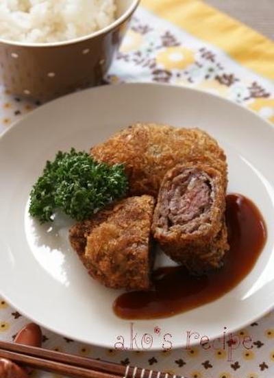 お弁当にも!牛肉のお手軽ミルフィーユカツ
