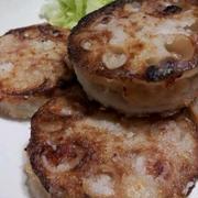 『レンコンひき肉サンド』