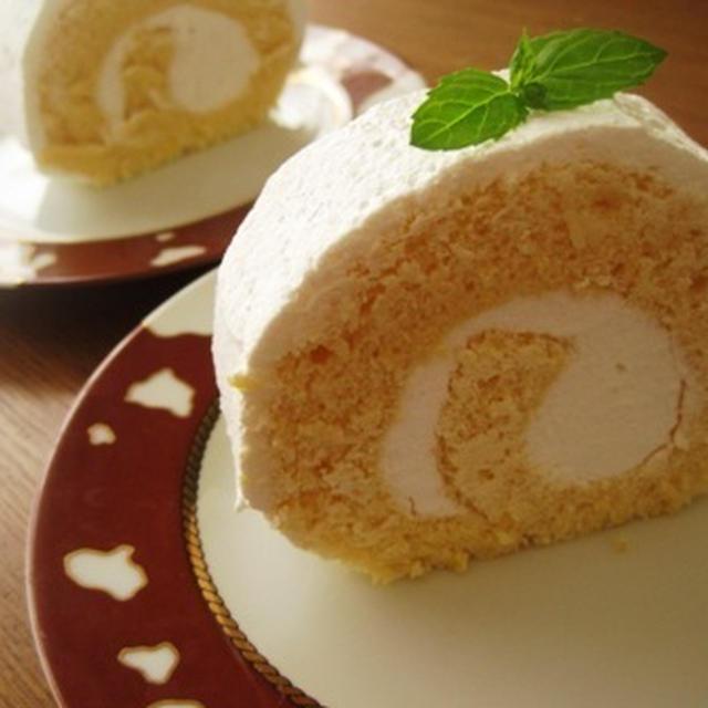 カルピスのロールケーキ
