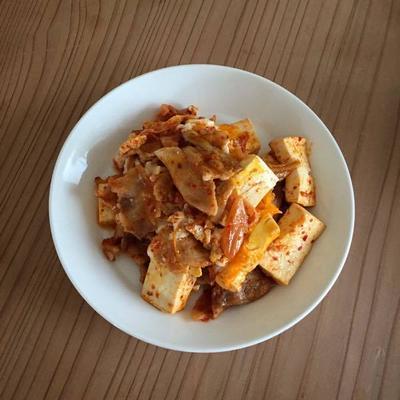 豚キムチ(豆腐入り)