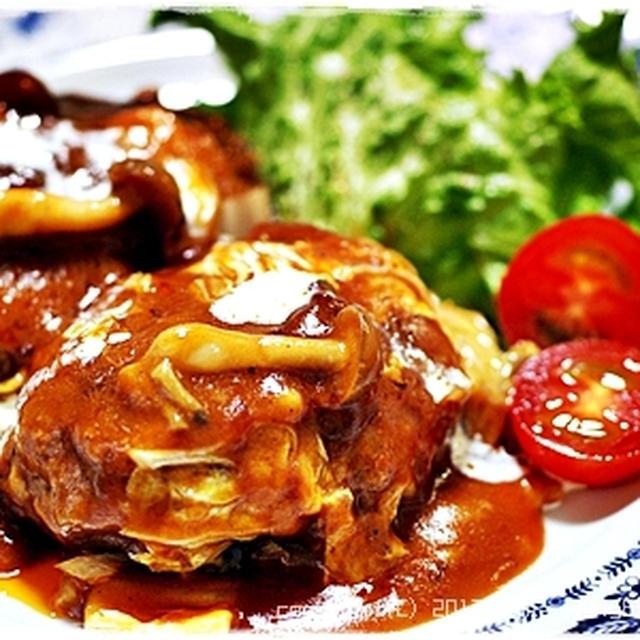 簡単■トロトロ白菜とキノコの煮込みハンバーグ■ディナーショーレシピ(・∀・)