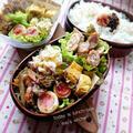 ♡今日のお弁当♡豚バラスライスde焼豚風♡