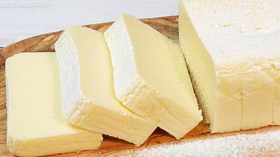 フライパンで作る濃厚チーズテリーヌホワイトショコラ【天使のケーキ】