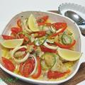 オーブントースターで焼く~海鮮パエリア♪&パプリカの栄養価 by ei-recipeさん