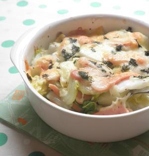 白菜とウインナーのチーズ焼き☆