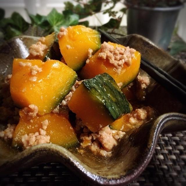 かぼちゃ と ひき肉 の 煮物