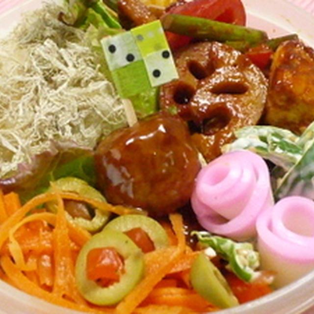 鶏肉と蓮根のコチュジャン炒め弁当