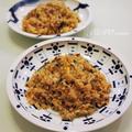 タコの干物とアサリで作る男の料理☆ガーリックタコ炒飯☆ by JUNOさん