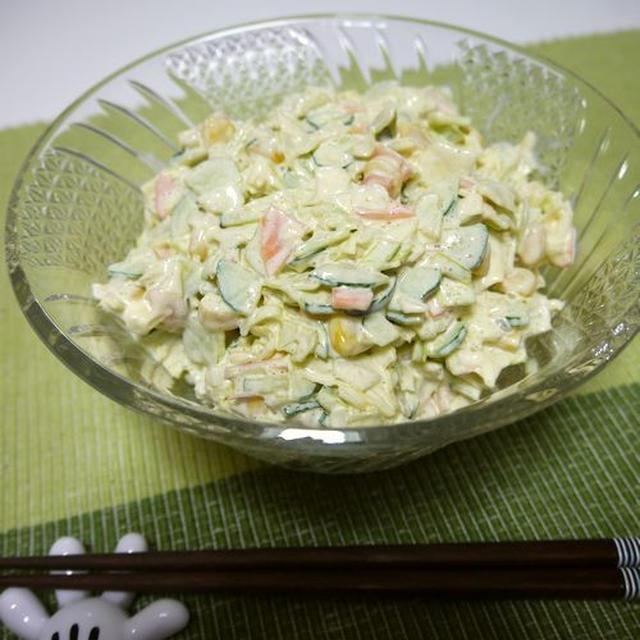 レモンが爽やか☆コールスローサラダ♪&十和田バラ焼き♪
