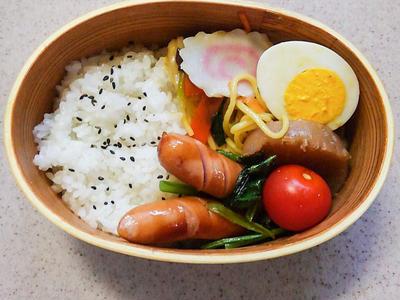 >小松菜とウインナーのバターコンソメ炒め☆のお弁当 by ななよさん