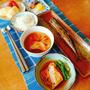 ピリ辛秋刀魚焼き(月曜日の朝ご飯)