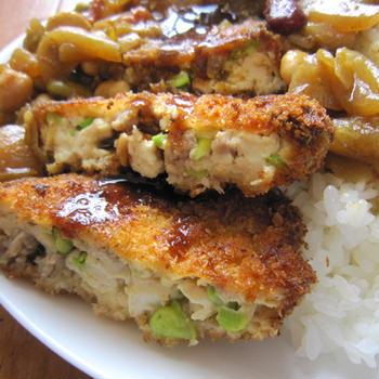 65皿目 豆腐のふわふわフライと豆のカレー