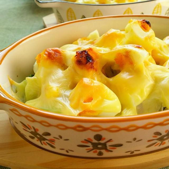 カリフラワーとゆで卵のみそマヨチーズ焼き☆