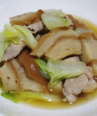 白菜と車麩の鶏がらスープ煮<うまコク煮>
