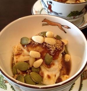 お豆腐でアジアンなスイーツを「豆腐黒蜜」。