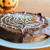 かぼちゃのスパイダーウェブケーキ(蜘蛛の巣ケーキ)