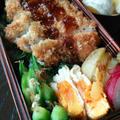 豚カツ丼弁当二つ