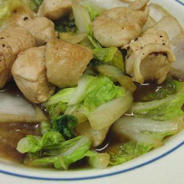 鶏と白菜のウスターソース煮