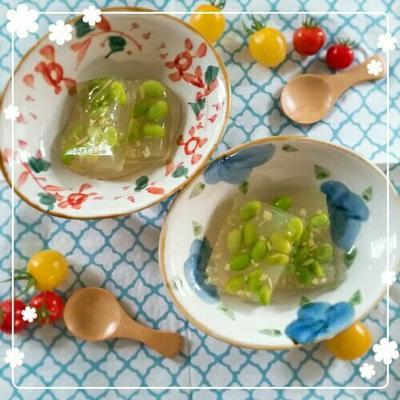 【レシピ】大人気レシピ☆枝豆の寒天寄せ